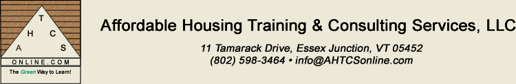 Affordable Housing Training and Consulting Services