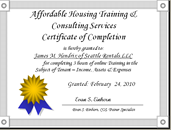 AHTCS Certificate of Completion